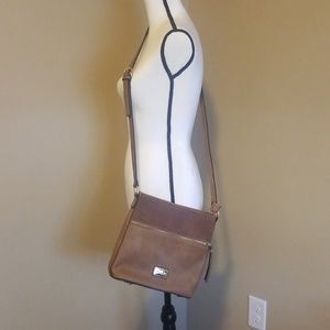 Simply Noelle Brown leather Corssbody